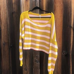 NWOT Free People Striped Sweater